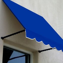 5 ft. Santa Fe Window Awning (31 in. H x 24 in. D) in Bright Blue
