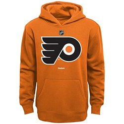 NHL Philadelphia Flyers Boys 8-20 Primary Logo Fleece Hoodie, Orange, Medium