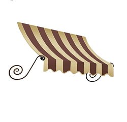 Awntech 4-Feet Charleston Window/Entry Awning 18 by 36-Inch - Brown/Tan