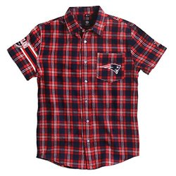 KLEW NFL New England Patriots Button-Up Shirt - Blue - Size: Small
