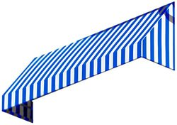 "Awntech 3-Feet New Yorker Window/Entry Awning, 44"" by 48"" - Blue/White"