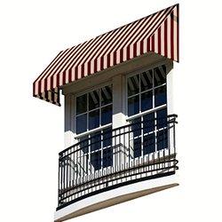 "Awntech 5-Feet New Yorker Window/Entry Awning, 44"" by 24"" - Burgundy/Tan"