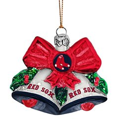 Boston Sox Shoe Ornament red