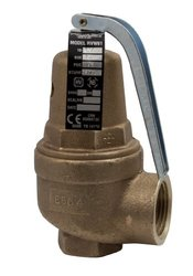 "Apollo Valve 10-600 Series Bronze Safety Relief Valve, ASME Hot Water, 60 psi Set Pressure, 3/4"" x 1"" NPT Female"