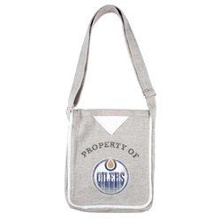 Little Earth Women's NHL Edmonton Oilers Hoodie Crossbody Purse - Gray