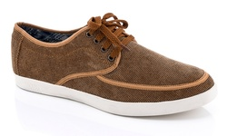 Franco Vanucci Men's Lace up Sneaker - Tan - Size: 11
