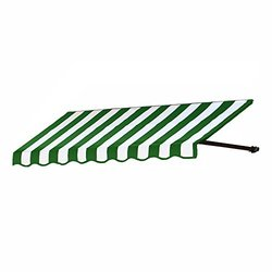 "Awntech 6-Feet Dallas Retro Awning for Low Eaves 18"" by 36"" - Green/White"