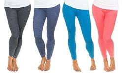 Women's Space-dye Fleece-lined Leggings: Small-medium