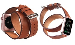 Genuine Leather Wrap-Around Band for Apple Watches - 38mm