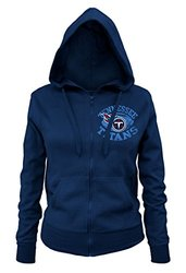 5th & Ocean Women's NFL Tennessee Titans Zipped Hooded Fleece - Navy - M