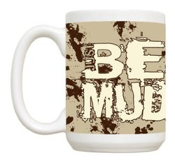Just Be 15-Ounce BE MUD Muddy Gift Boxed Coffee Mug/Cup - Brown