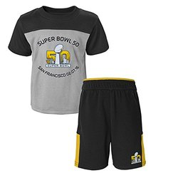 NFL Super Kids Bowl 50 Short Sleeve Tee & Pant Set - Multi - Size: 4T