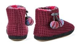 "Cuddl Duds Women's 6"" Lena Slipper Boots - Berry - Size: 7/8"