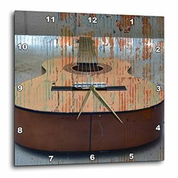 3dRose dpp_29250_3 Guitar Tread Music Instruments-Wall Clock, 15 by 15-Inch