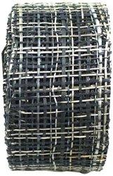 Arts Craft Natural Abaca Burlap - Black - 2-1/2-Inch by 10-Yard