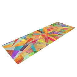 "Kess InHouse Danny Ivan ""Star"" Yoga Exercise Mat, Geometric Multicolor, 72 x 24-Inch"