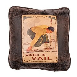 """Big House Home Collection """"Winter in Vail"""" Home Accent Pillows, 16 by 16-Inch"""