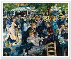 JP London POS2248 uStrip Peel and Stick Renoir Wall Decal Sticker Mural Dance at Le Moulin de la Galette, 24-Inch by 19.75-Inch