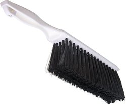 "Carlisle 4048100 Flo-Pac Plastic Handle Counter/Bench Brush, Polyester Bristles, 8"" Brush Length, 13"" Overall Length (Pack of 12)"