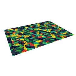 "Kess InHouse Akwaflorell ""Fruit and Fun"" Outdoor Floor Mat/Rug - 4 by 5'"