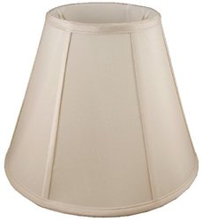 American Pride Lampshade Co. 04-78090119 Round Soft Tailored Lampshade, Shantung, Light Beige