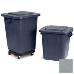 Bronco 28 Gal. White Square Trash Can Lid (Pack) 6