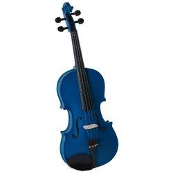 Saga SV-130BU Cremona Premier Novice Violin Outfit - Sparkle Blue 4-4