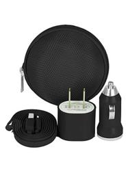 Itek By Soundlogic Portable Travel - 8 Pin To USB Kit - Black