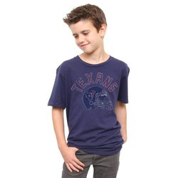 NFL Houston Texans Youth Kickoff Crew T-Shirt - Blue - Size: Medium
