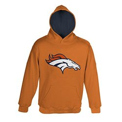 "NFL Denver Broncos 4-7 ""Primary"" Pullover Hoodie, Medium, Orange"