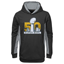 NFL Super Bowl 50 Boy's 8-20 Debossed Hoodie - Black - Size: Small