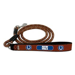 NFL Indianapolis Colts Football Leather Rope Leash - Brown - Size: Medium