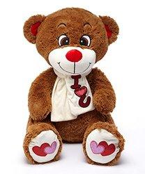 """AIR 32"""" Stuffed Plush Bear, Dark Brown"""