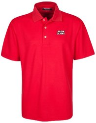 Oxford NCAA Louisiana Lafayette Ragin' Cajuns Men's Micro-Check Golf Polo, Cardinal, Small