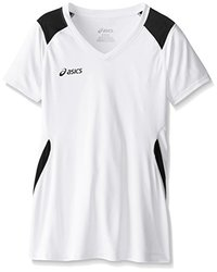 ASICS Girl's Junior Set Jersey, White/Black, Medium
