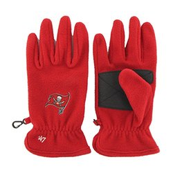 NFL Tampa Bay Buccaneers Men's '47 Fleece Gloves, Red