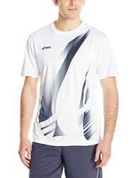 ASICS Men's Put Away Jersey - White/Navy - Size: Small