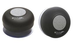 Aduro Aqua Sound Shower Bluetooth Speaker 2 Pack - Black