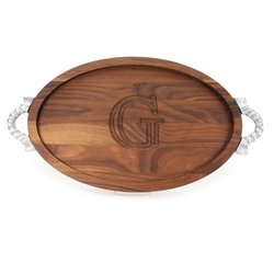 Bigwood Boards Large Monogrammed Cutting Board with Groove