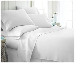 ienjoy Home IEH-6PC-QUEEN-WHITE 6Piece Home Collection Premium Ultra Soft Bed Sheet Set, Queen, White