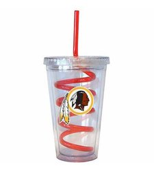 NFL Washington Redskins Swirl Straw Tumbler - Multi - Size: 16 Oz