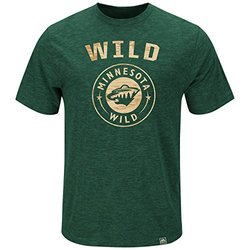 NHL Minnesota Wild Men's Hours & Hours Fashion Tops - Green - Size: Large