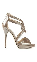 Jimmy Choo Shimmer Leather Women's Heels - Antique - Size: 9.5