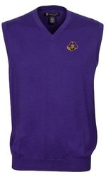 Oxford NCAA East Carolina Pirates Men's Bristol Sweater Vest (Grape, Medium)