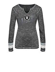 VF LSG Women's NFL Long Sleeve Split Crew Neck Tee - B S/S Gray - Size: XL
