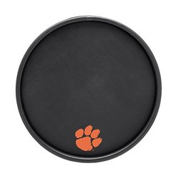 Clemson Black Round Serving Tray