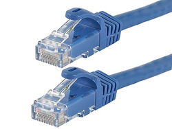 Monoprice 100-Feet FLEXboot Series 24AWG Cat6 550MHz UTP Ethernet Bare Copper Network Cable, Blue (109794)