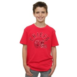NFL Kansas City Chiefs Youth Kickoff Crew T-Shirt - Red - Size: Large