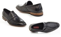 Solo Men's Slip-on Loafers - Black - Size: 9.5