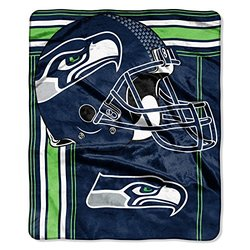 "NFL Seattle Seahawks Touchback Raschel Throw, 50"" x 60"", Blue"
